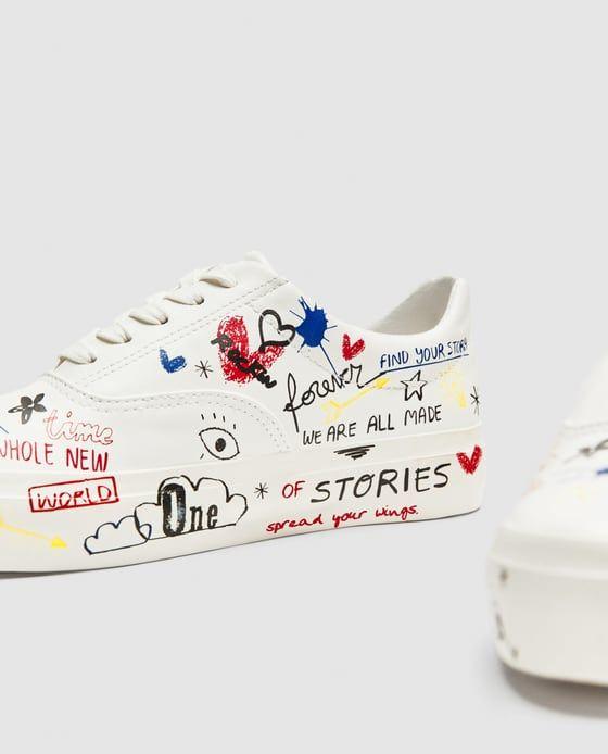 Bamba Graffiti Sneaker Zara Schuhe Schuhe Anmalen
