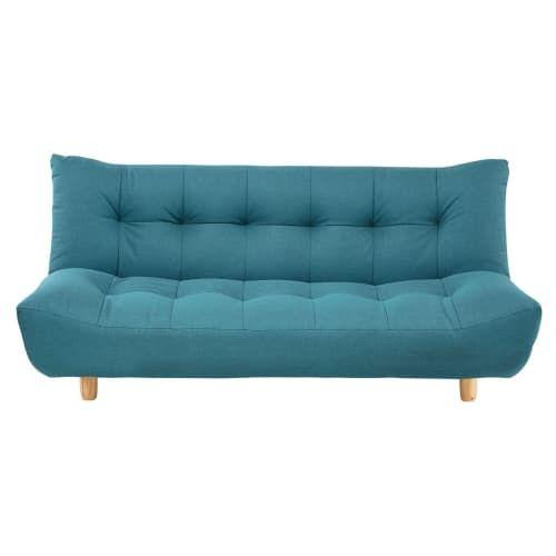 Canape Clic Clac Capitonne 3 Places Bleu Turquoise Canape Turquoise Canape Clic Clac Et Canape Lit