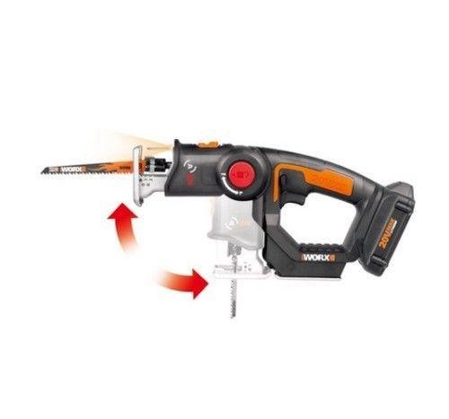 Cordless Reciprocating Jig Saw 2 In 1 20v Axis Scroll Blade Dust Blower Wood Pvc Worx Cordless Best Jigsaw Jig