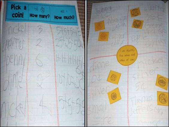 Money math journals