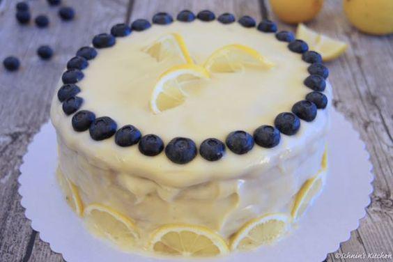 Schnin's Kitchen: Zitronen-Blaubeer-Torte
