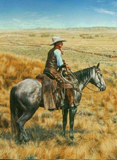 Trail boss taking a break from the cattle drive.