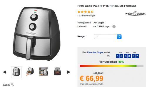 Profi Cook PC-FR 1115 H Heißluft-Fritteuse