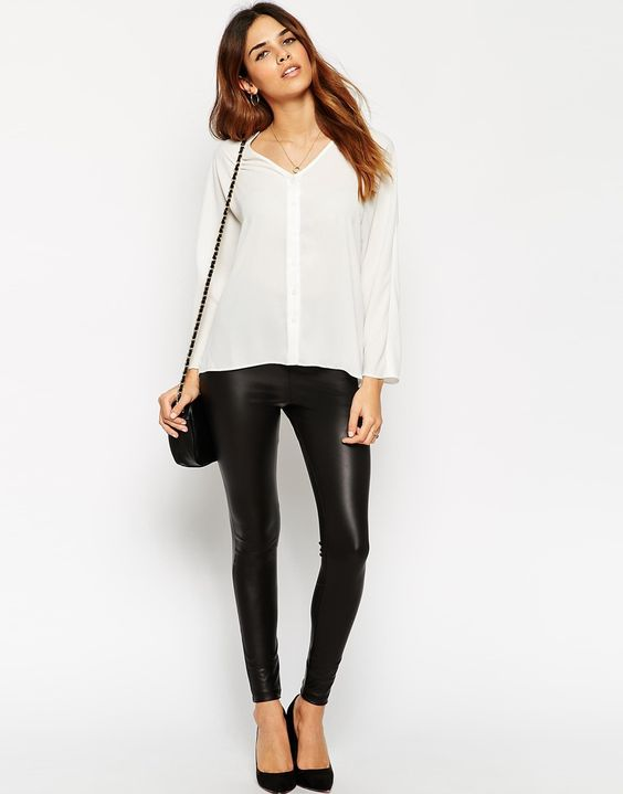 Asos Leather Look Leggings