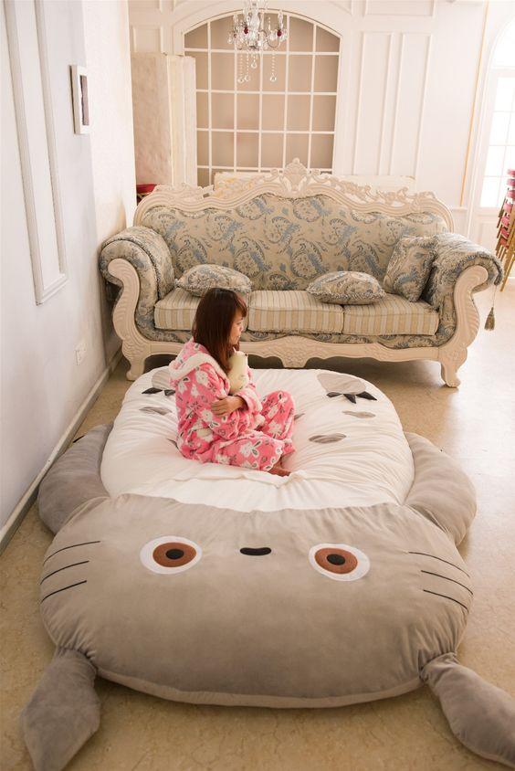 Bébé Canapé Lit Pliant Canapé Totoro matelas canapé Mignon de Bande Dessinée Sacs de Couchage saco de dormir de peluche paresseux Matelas Couverture dans Gigoteuses de Mère et Enfants sur AliExpress.com | Alibaba Group