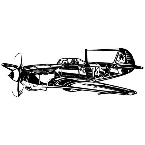Vinilos Decorativos: Avión Caza 2ª Guerra Mundial