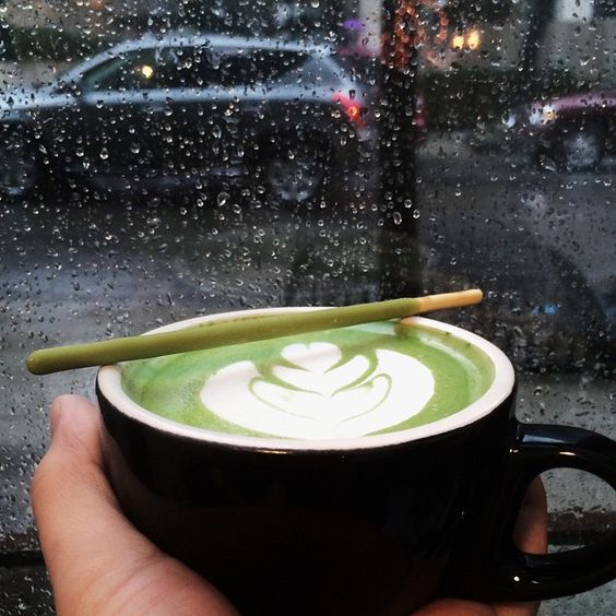 Matcha Latte @ perk cafe