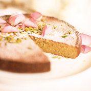 Pistachio cake recipe with rosewater - almond flour?