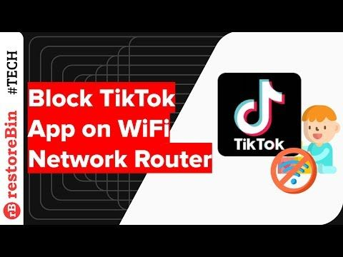 How To Block The App Tiktok From Your Home Router Router Wifi Network App Block