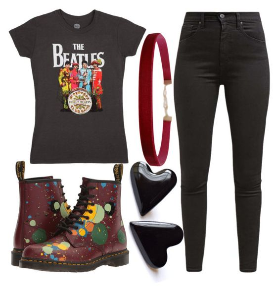 """""""#1"""" by prescottzahara ❤ liked on Polyvore featuring Levi's, Dr. Martens and Humble Chic"""