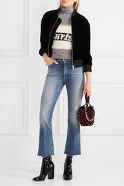 The Hustler cropped high-rise bootcut jeans