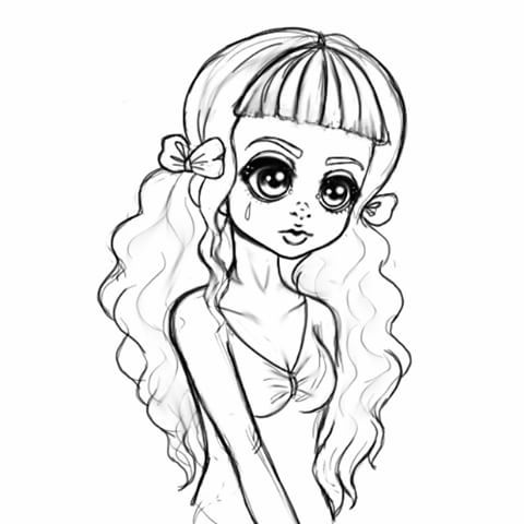 Melanie Martinez Coloring Pages Coloring Pages, Melanie Martinez, Pokemon  Coloring