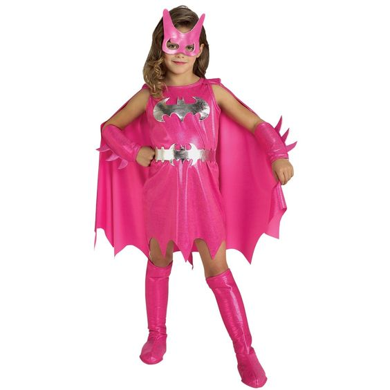 Punk Supergirl | Fantasia da Mulher Gato BatGirl Infatil Rosa