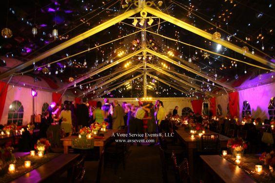 Starlit wedding reception