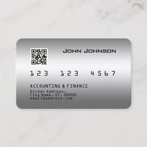 Faux Credit Or Debit Card Look Metallic Zazzle Com With Images