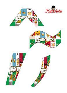 EUGENIA - KATIA ARTES - BLOG DE LETRAS PERSONALIZADAS E ALGUMAS COISINHAS: Angry Birds - Letra e Números