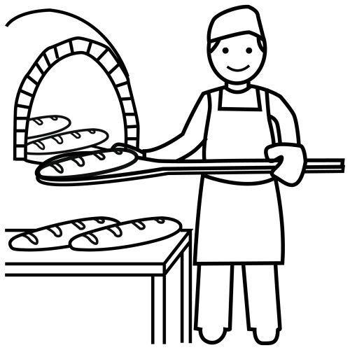 Dibujos panaderia para colorear buscar con google for Hornear a blanco