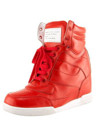 Runway Wedge High-Top Sneaker by MARC by Marc Jacobs, $320. 212 872 8941