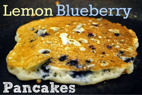 These lemon blueberry pancakes look so good! Perfect Saturday morning breakfast.