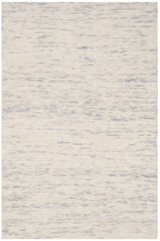 Short Hand-Loomed Silver Area Rug