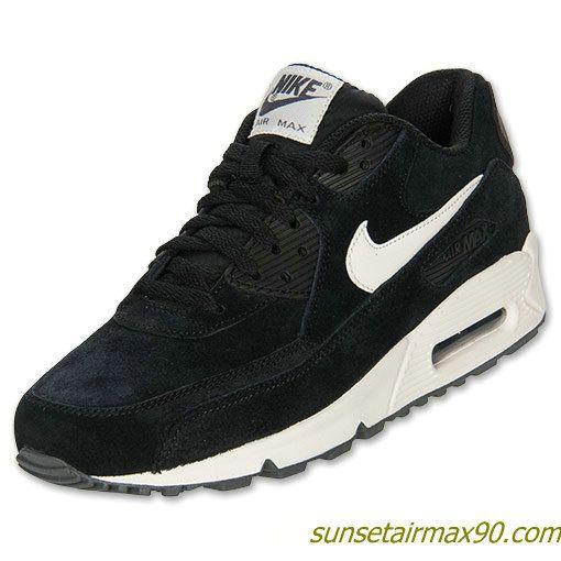 finest selection a8308 0123c ... Nike Air Max 90 Essential Mens Black Sail Dark Grey Anthracite 537384  002 Nike Pinterest Nike ...