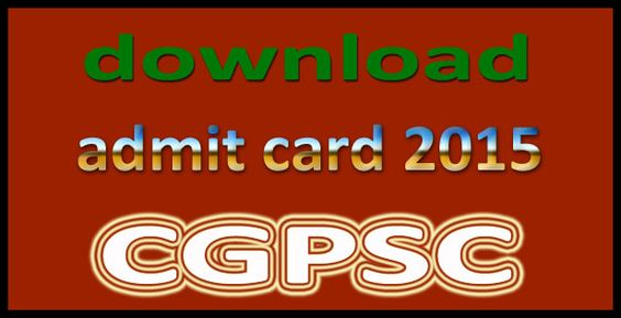 CGPSC Assistant Professor Teacher exam date & as well as able to download online exam admit card 2015.