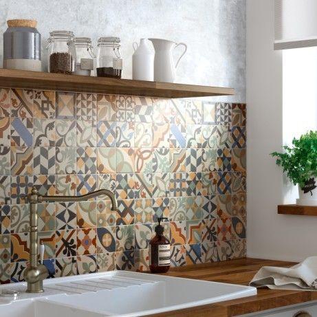 Resultat Leroymerlin Fr Trouve Sur Google Carrelage Mural Cuisine Cuisine Carreaux De Ciment Mosaique Cuisine