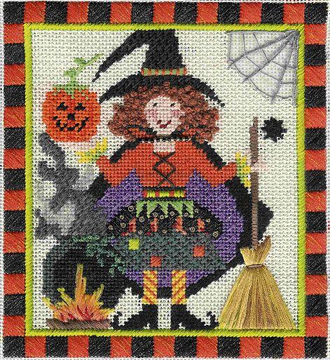 needlepoint canvas designs halloween fall - Google Search