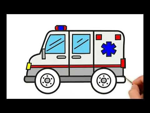 How To Draw An Ambulance For Children Easy Designs And Art Tv Bubble Youtube Drawing For Kids Ambulance Draw