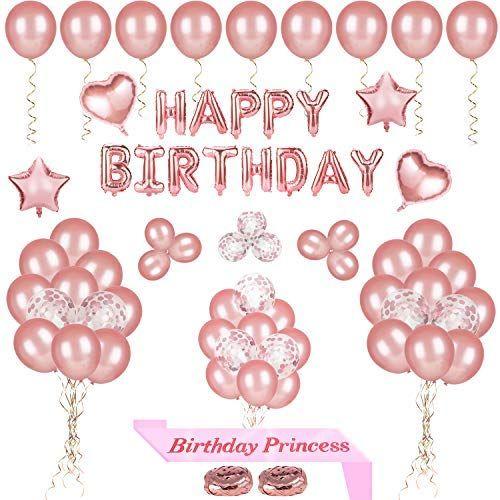 68 Stuck Happy Birthday Party Luftballons Dekoration Rose Gold