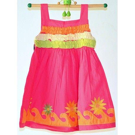 Kidcetra Toddler Girls Dark Pink Frock #summerdresses #dressesforgirls #babyfrocks