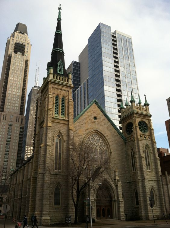 Old church across the street from The Newberry Library in Chicago.