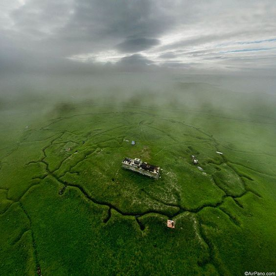 Abandoned Russian military base at Shumshu Island, North Kuriles, Russia  Заброшенная погранзастава на острове Шумшу, Северные Курилы