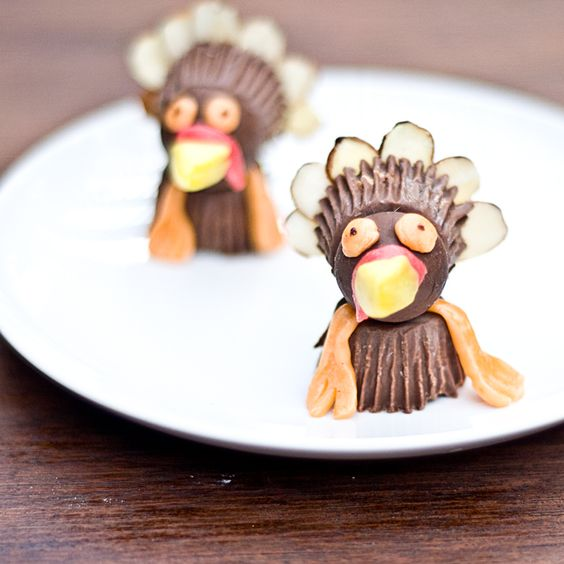 Chocolate Turkeys Made From Halloween Candy - How to