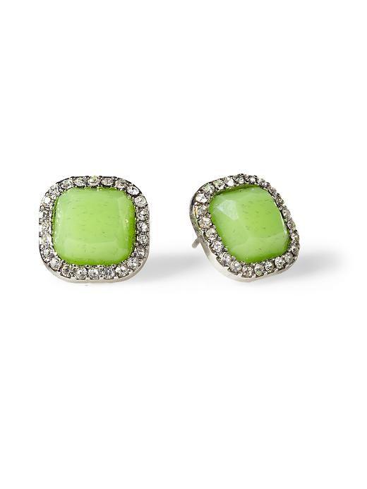 Sabine Jewel Pave Square Stud Earring
