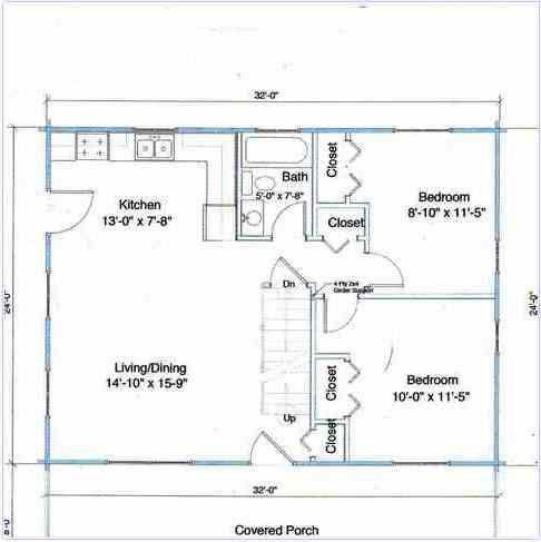 24x32 Cabin 486 487 Pixels Floor Plans Pinterest