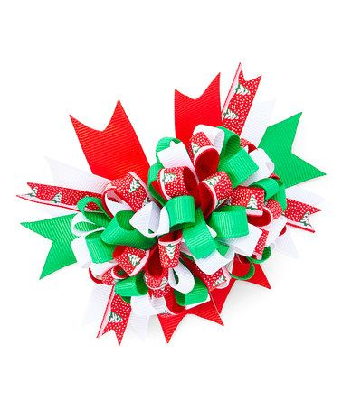 Look what I found on #zulily! Christmas Firecracker Boutique Hair Bow #zulilyfinds