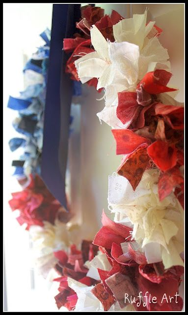 Adorable rag wreath!