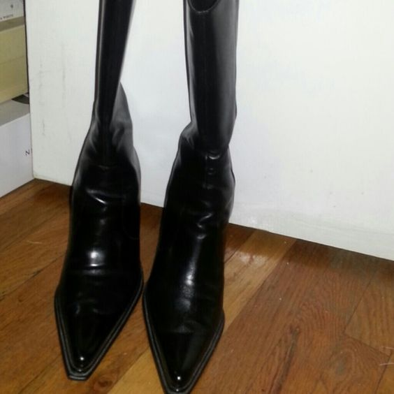 Nine west boot Black leather brand new  worn once . Nine West Shoes