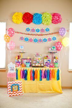 Cumplea os coloridos buscar con google cumplea os - Ideas para fiestas de cumpleanos infantiles en casa ...
