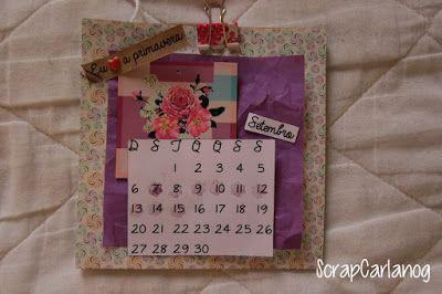 Scrap Carlanog: Calendário de mesa: Setembro