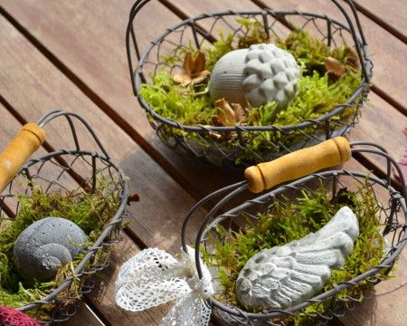 herbst aus beton | gute ideen | pinterest, Hause und Garten