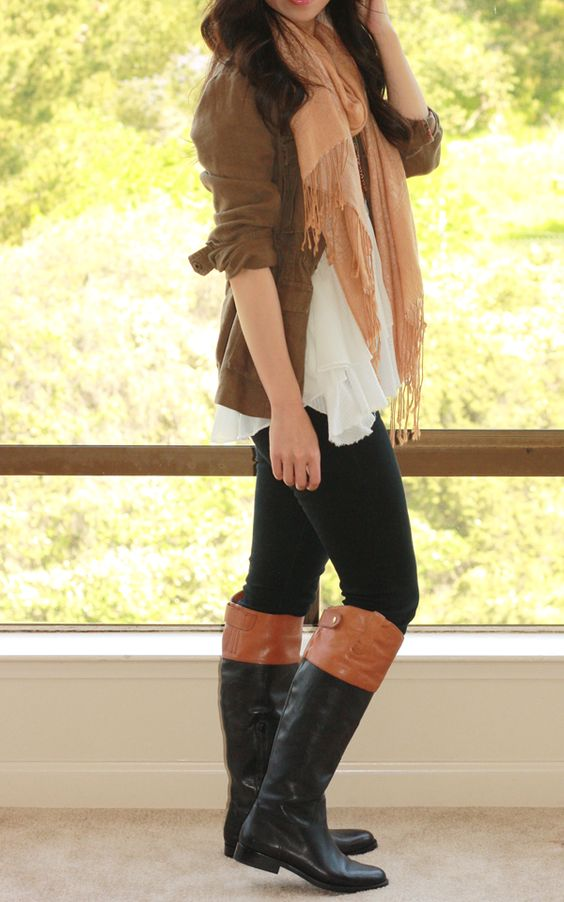 All About Fashion Stuff: Ralph Lauren Janessa Two Tone Riding Riding Boots For Big Calves Women