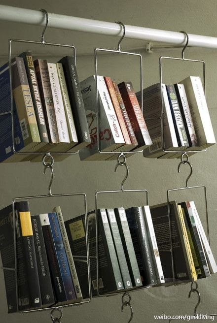 Book racks let you hang your books. designed by U:B studio