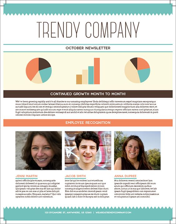 Community Non Profit Newsletter Design Template by StockLayouts - office newsletter