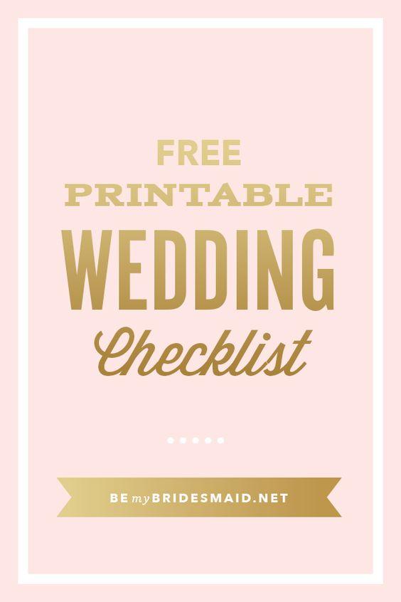 Free wedding wedding planning and printables on pinterest for Free wedding planner printables