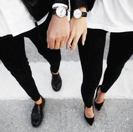 Resultado de imagen para outfit en blanco y negro parejas