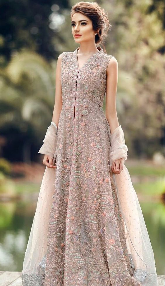 96906b65373 Latest Pakistani Fashion Wedding Guest Dresses 2019