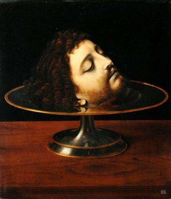 The head of John the baptist. Andrea Solario. Italian. 1460-1524. oil on canvas. //Tête de Saint Jean-Baptiste