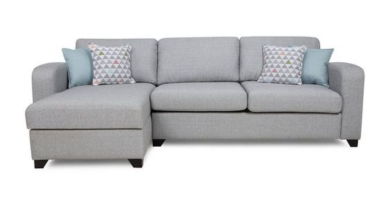 Lydia Left Hand Facing Chaise End 3 Seater Deluxe Sofa Bed | DFS